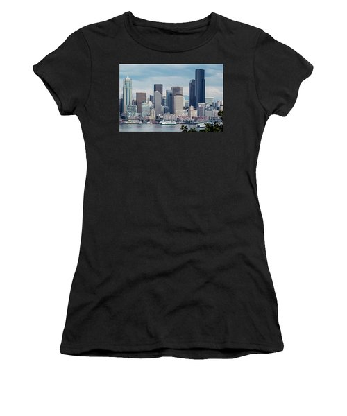 Downtown Seattle And Ferries Women's T-Shirt