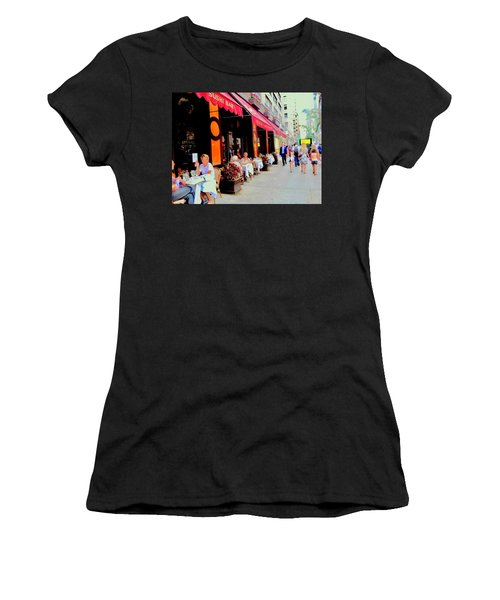 Downtown Sidewalk Women's T-Shirt (Athletic Fit)
