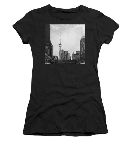 Downtown Toronto In Bw Women's T-Shirt