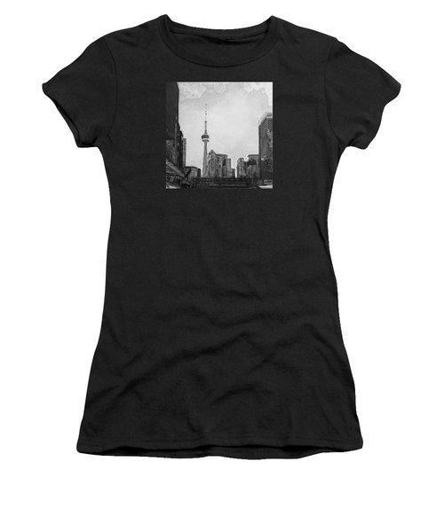 Downtown Toronto In Bw Women's T-Shirt
