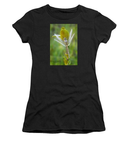 Dragon Fly In The Dew Women's T-Shirt (Athletic Fit)
