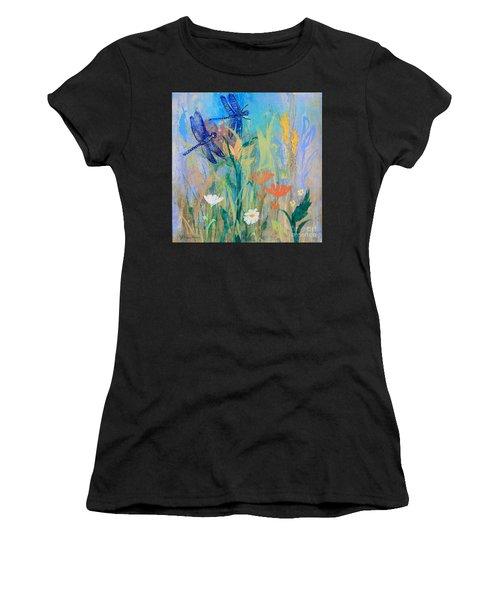 Dragonflies In Wild Garden Women's T-Shirt