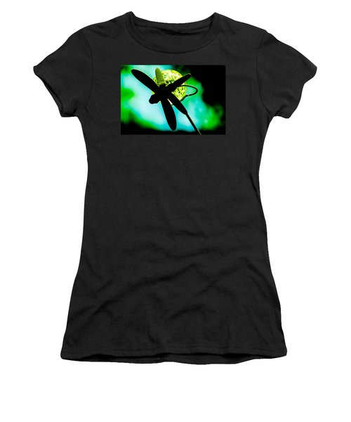 Dragonfly Crystal Women's T-Shirt (Athletic Fit)
