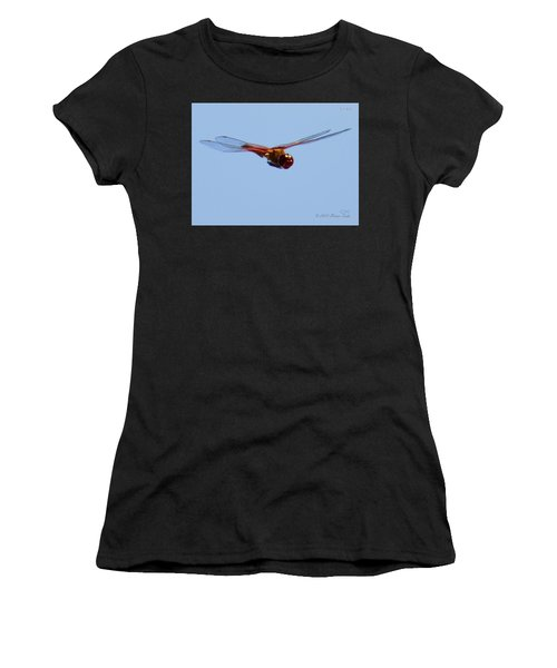 Dragonfly In Flight Close Up Women's T-Shirt