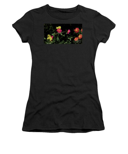 Dramatic Colorful Flowers Women's T-Shirt