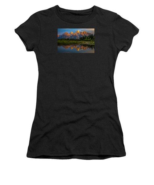 Dramatic Grand Teton Sunrise Women's T-Shirt (Athletic Fit)
