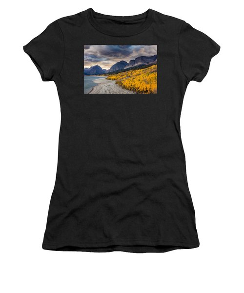 Dramatic Sunset Sky In Autumn  Women's T-Shirt (Athletic Fit)