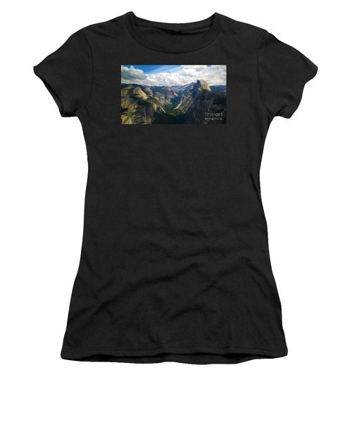 Dramatic Yosemite Half Dome Women's T-Shirt (Athletic Fit)