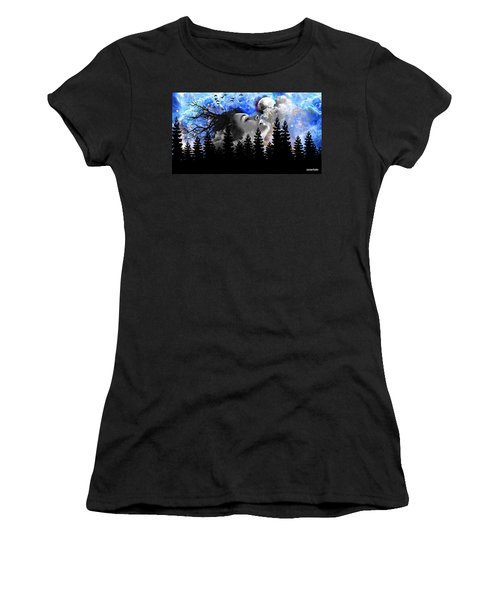 Dream Is The Space To Fly Farther Women's T-Shirt (Athletic Fit)