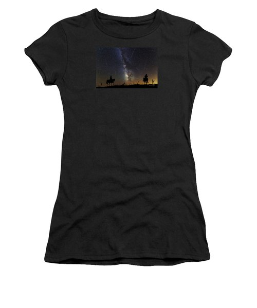Dream Ride At Magic Time Women's T-Shirt (Athletic Fit)