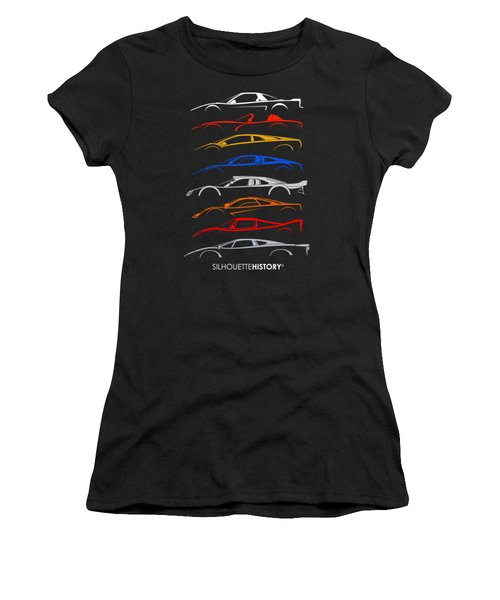 Dreamcars Of 90s Silhouettehistory Women's T-Shirt (Athletic Fit)