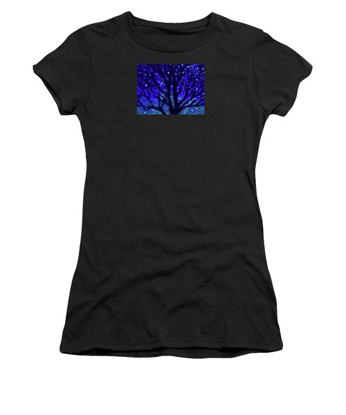 Women's T-Shirt (Junior Cut) featuring the painting Dreams Of Needham by Jean Pacheco Ravinski