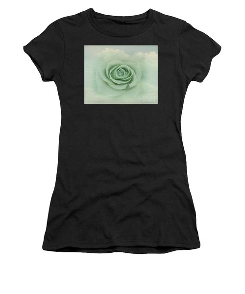 Dreamy Vintage Floating Rose Women's T-Shirt (Athletic Fit)