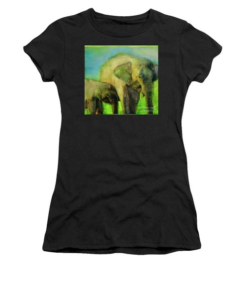 Dreaming Of Elephants Women's T-Shirt (Athletic Fit)