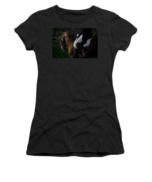 Dressage Women's T-Shirt (Junior Cut) by Wes and Dotty Weber