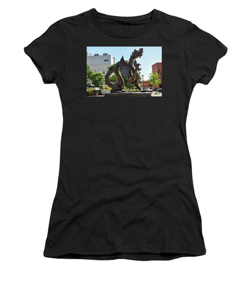 Women's T-Shirt featuring the photograph Drexel University Dragon - Philadelphia Pa by Bill Cannon