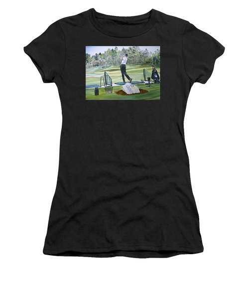 Driving Pine Hills Women's T-Shirt (Athletic Fit)