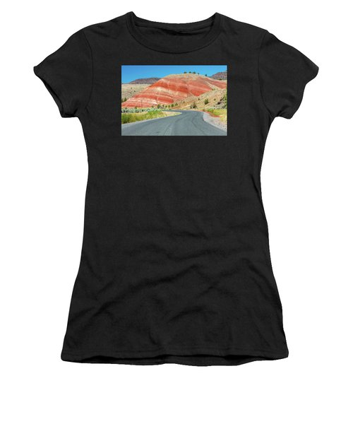 Women's T-Shirt featuring the photograph Driving To Painted Hills by Pierre Leclerc Photography