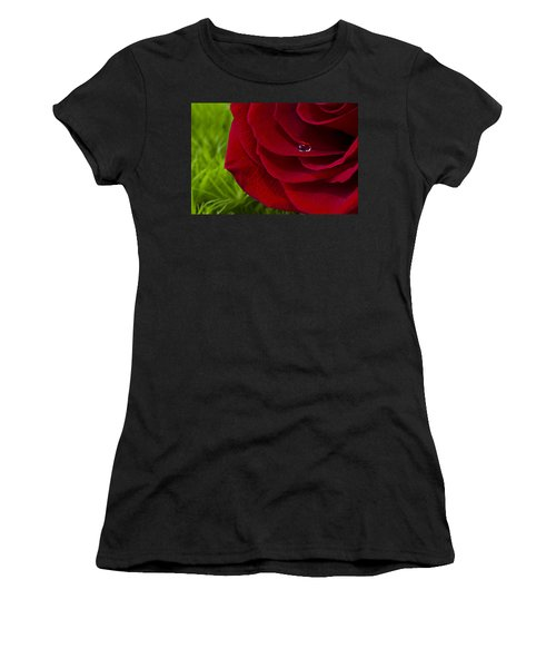 Drop On A Rose Women's T-Shirt (Athletic Fit)