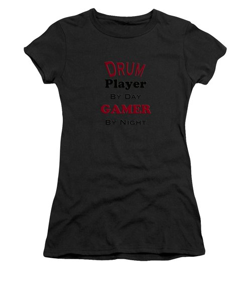 Drum Player By Day Gamer By Night 5625.02 Women's T-Shirt (Athletic Fit)