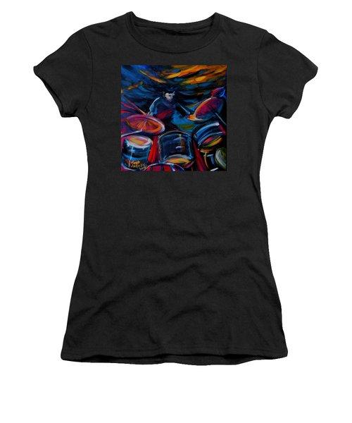 Drummer Craze Women's T-Shirt