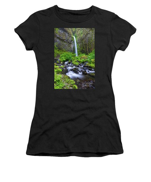 Dry Creek Falls Women's T-Shirt (Athletic Fit)