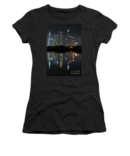 Dubai City Skyline Nighttime  Women's T-Shirt