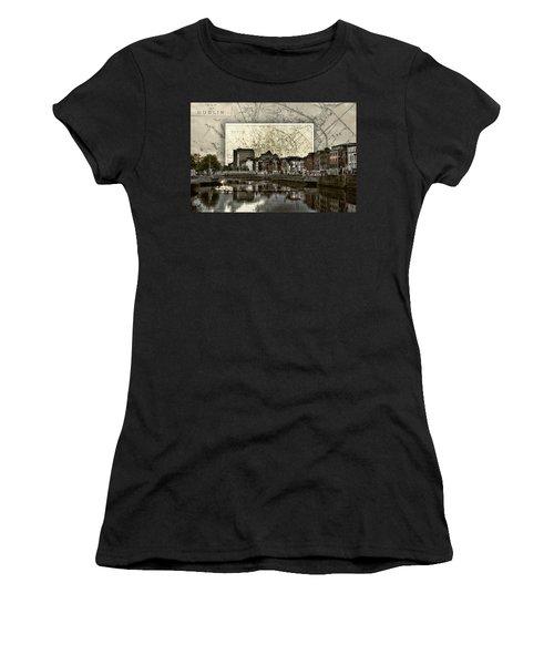 Dublin Skyline Mapped Women's T-Shirt