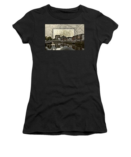 Dublin Skyline Mapped Women's T-Shirt