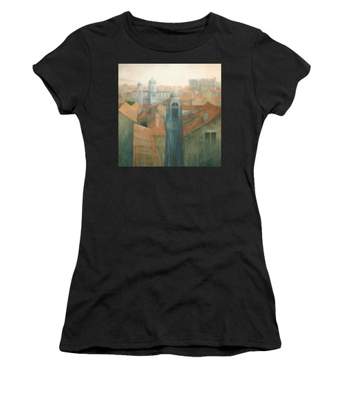 Dubrovnik Rooftops Women's T-Shirt (Athletic Fit)