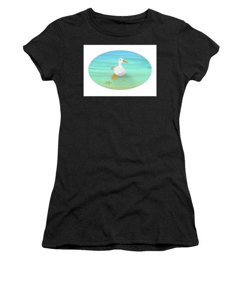Duck Paddling At The Seaside Women's T-Shirt