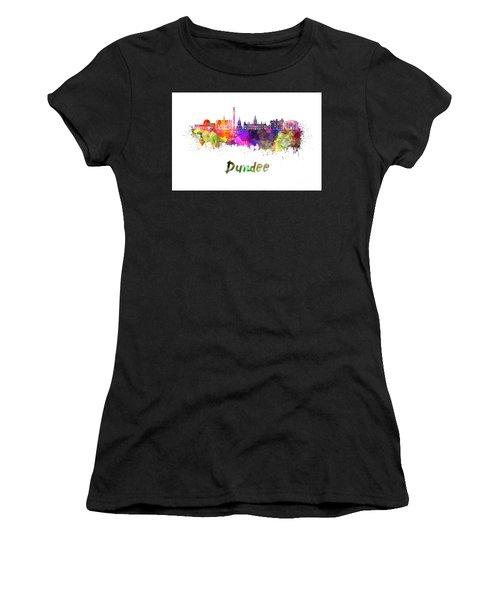 Dundee Skyline In Watercolor Women's T-Shirt