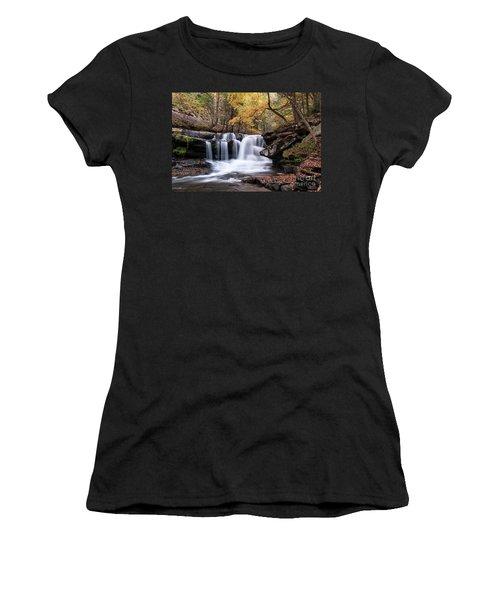 Women's T-Shirt (Junior Cut) featuring the photograph Dunloup Falls - D009961 by Daniel Dempster
