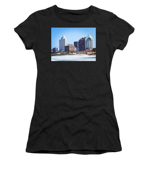 Durban Skyline From Bay Of Plenty Women's T-Shirt (Athletic Fit)