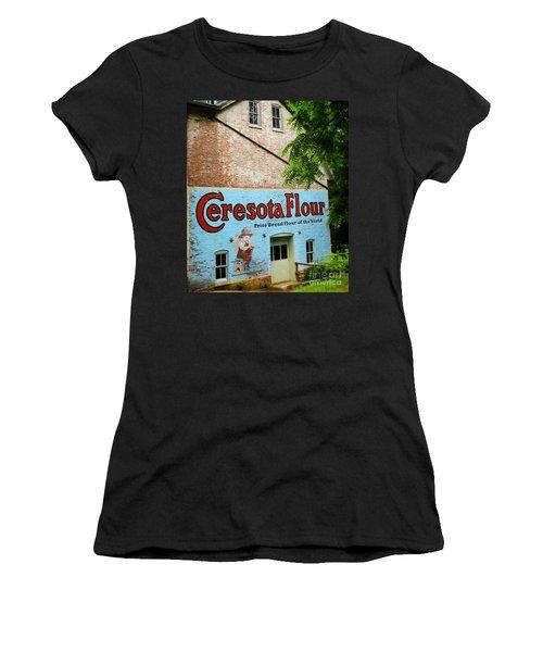 Durham Grist Mill Cerosota Flour Women's T-Shirt (Athletic Fit)