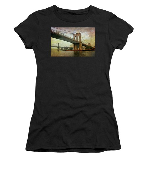 Dusk At The Bridge Women's T-Shirt (Junior Cut) by Diana Angstadt