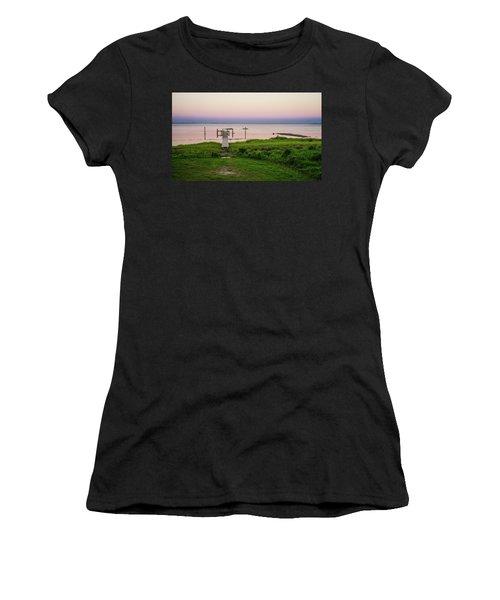 Dusk At Battle Point, Accomac, Virginia Women's T-Shirt (Athletic Fit)