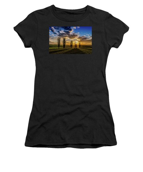 Dutch Moutains At Sunset Women's T-Shirt (Athletic Fit)