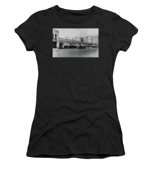 Women's T-Shirt (Athletic Fit) featuring the photograph Dyckman Street, 1927 by Cole Thompson