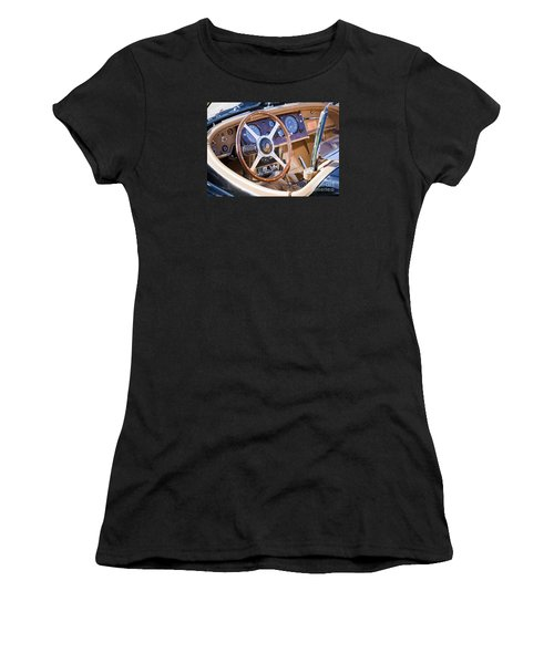 E-type Jaguar Dashboard Women's T-Shirt (Athletic Fit)