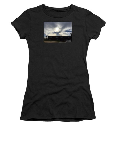 Eagle Cloud In The Carolina Sky Women's T-Shirt (Athletic Fit)