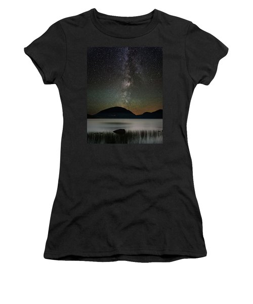 Eagle Lake And The Milky Way Women's T-Shirt