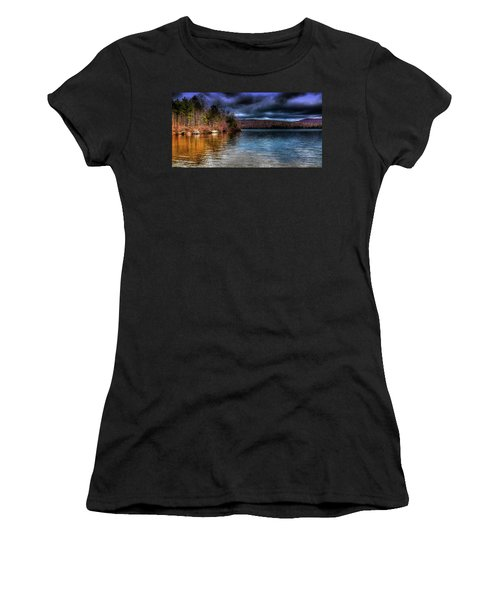 Women's T-Shirt (Junior Cut) featuring the photograph Early May On Limekiln Lake by David Patterson