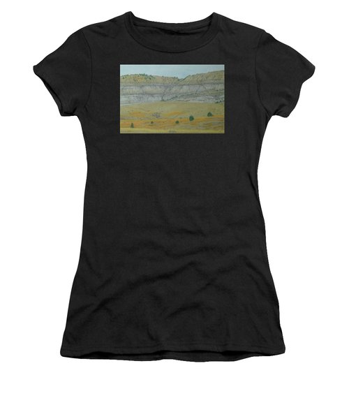 Women's T-Shirt featuring the pastel Early May On The Western Edge by Cris Fulton