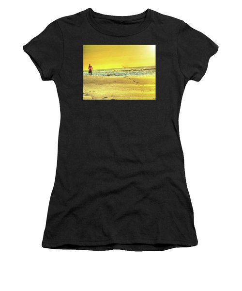 Early Morning Beach Walk Women's T-Shirt (Athletic Fit)