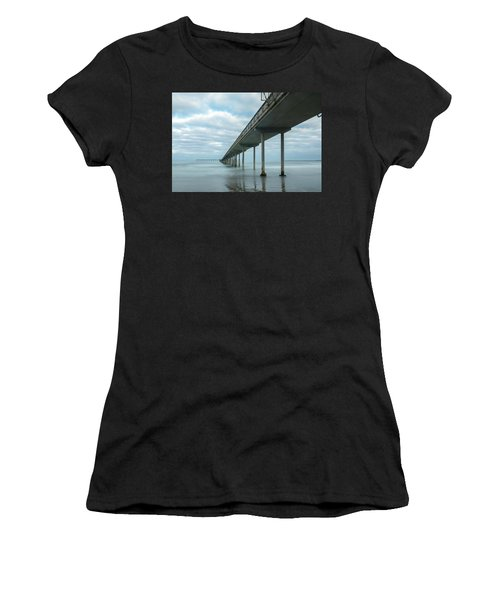 Early Morning By The Ocean Beach Pier Women's T-Shirt