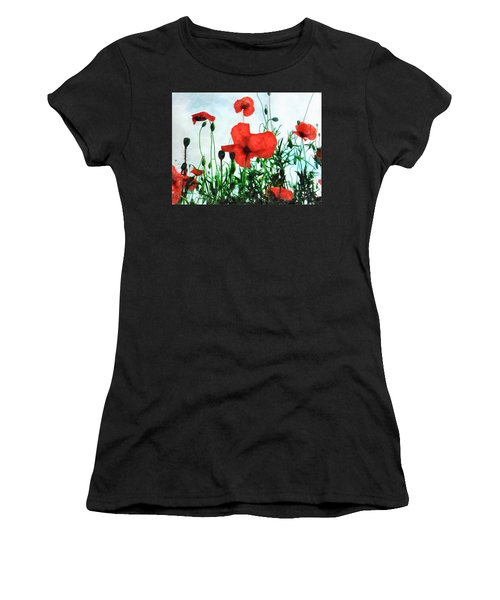 Early Morning Poppy Moment Women's T-Shirt (Athletic Fit)