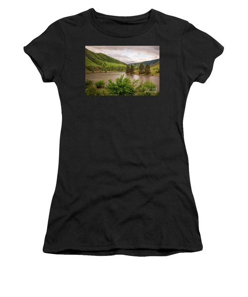 Early Morning Smoothy Waterscape Art By Kaylyn Franks  Women's T-Shirt (Athletic Fit)