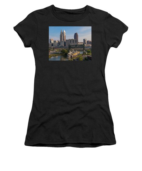 Early Morning Transport On The Cuyahoga River Women's T-Shirt