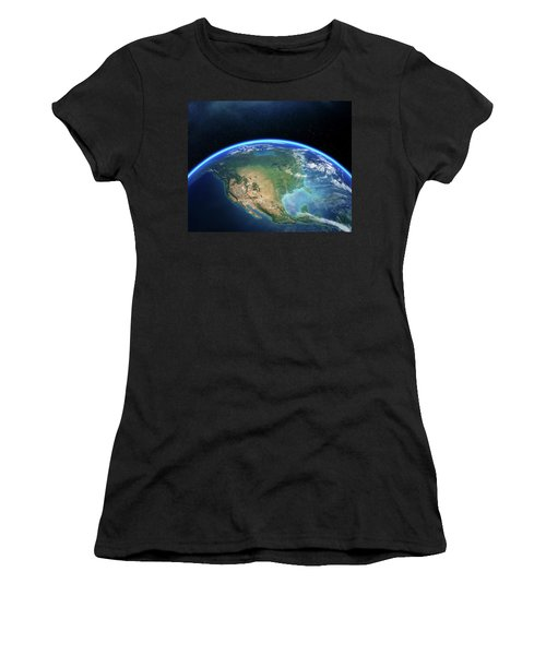 Earth From Space North America Women's T-Shirt